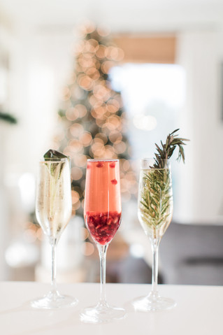 New Year's Eve Infused Champagne Cocktails