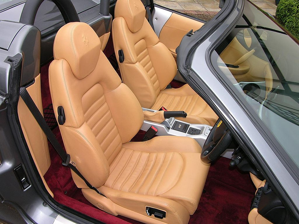 Leather-upholstered car seats