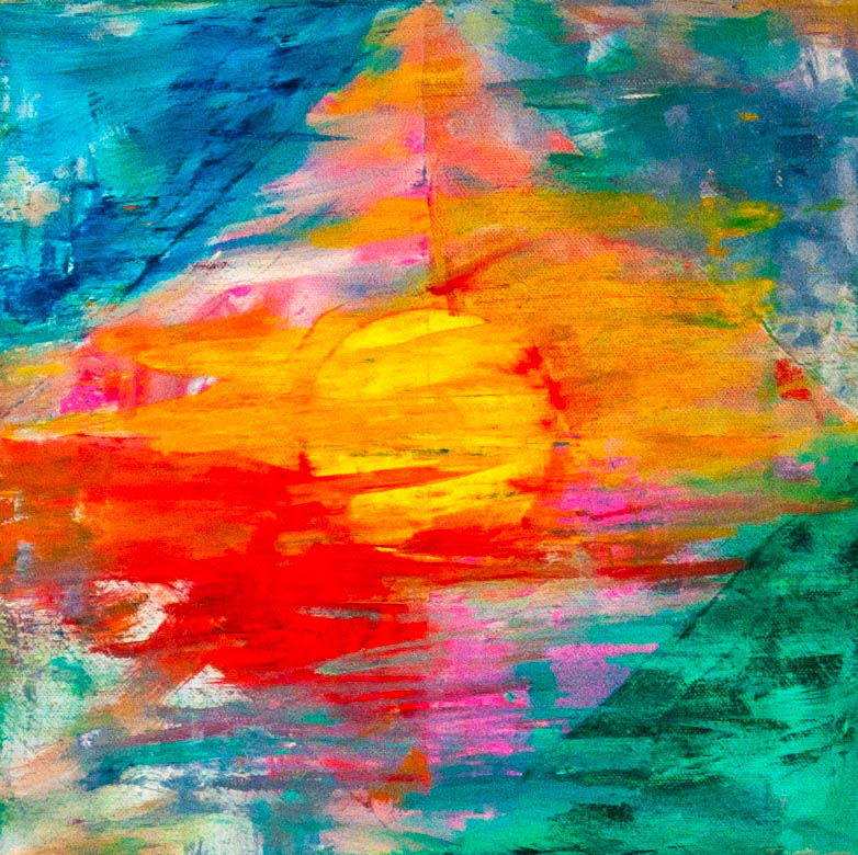_Hope_ Sunrise 3 (12 X 12 inches, acrylic on canvas, 2017)-1