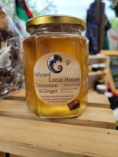 Cinnamon & Ginger Infused Local Honey (10 oz)