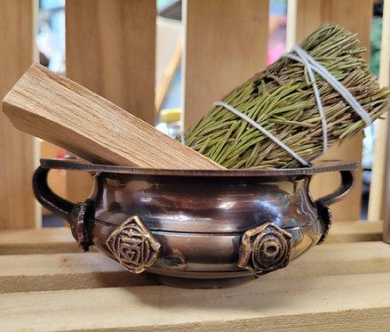 7 Chakra Smudge bowl/ Incense pot