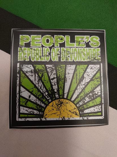 PEOPLE'S REPUBLIC OF DEVONSHIRE Sticker