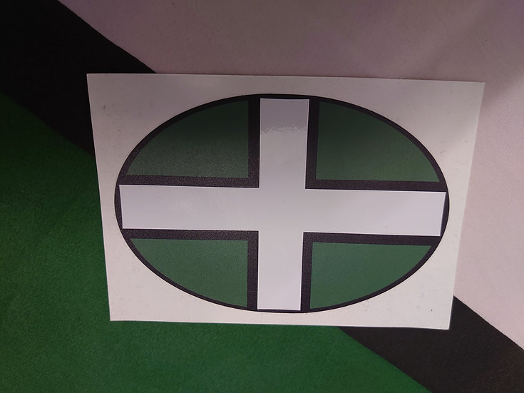DEVON Flag Sticker  13 x 9cm