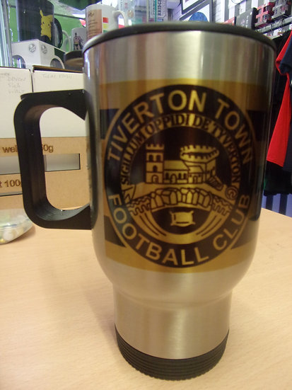 TIVERTON TOWN F.C. Aluminium Travel Mug