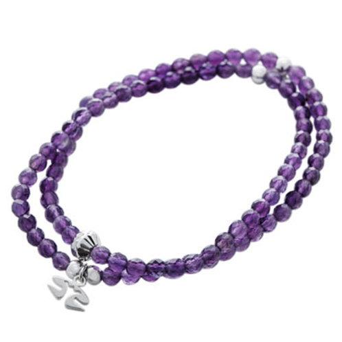 Amethyst double bracelet