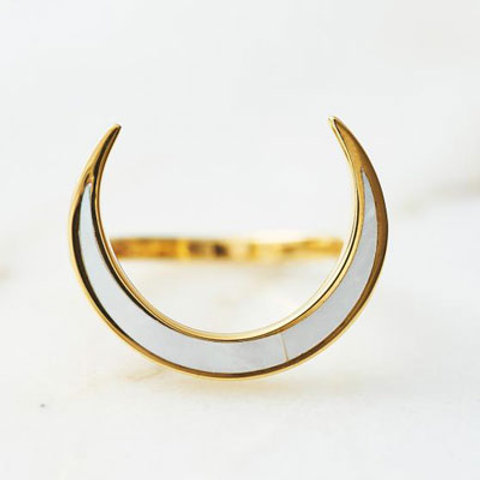 ≪Crescent Luna≫CONCHA LUNA RING GOLD