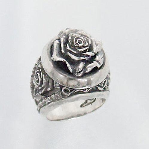 Rose flower funeral Ring