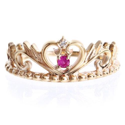 Lepus-Rabbit- / Tiara Heart Ring GOLD