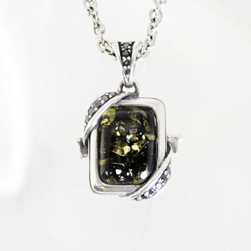 Square Amber Pendant
