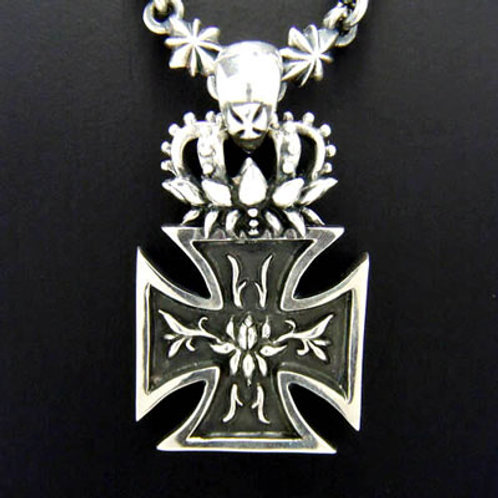 Lotus Iron Cross Pendant