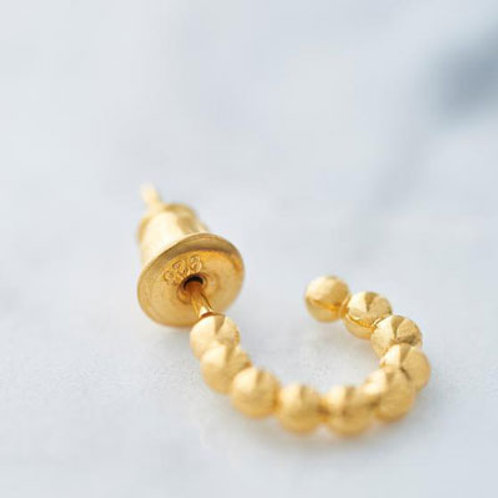 ≪Crescent Luna≫PAZ PIERCE Earrings GOLD COLOR