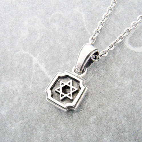 Mini plate six-pointed star Pendant