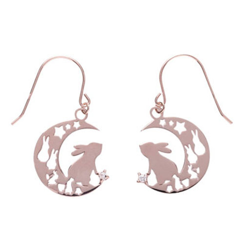 Lepus-Rabbit- / Diamond Earrings PINK GOLD