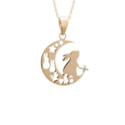 Lepus-Rabbit- / Diamond Necklace GOLD