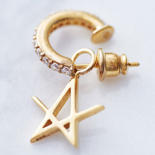 ≪Crescent Luna≫ESTRELLA FUGAZ Earrings GOLD COLOR