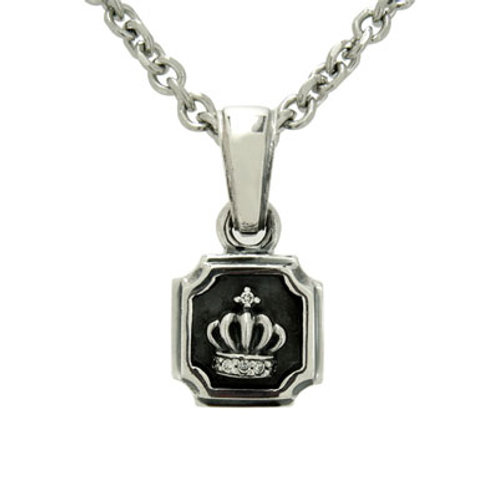 Mini plate crown Pendant