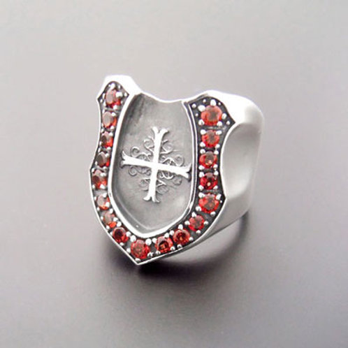 shadow cross horse shoe ring ARKR-0022