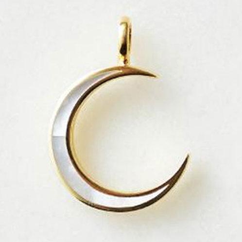 ≪Crescent Luna≫CONCHA LUNA PENDANT GOLD Necklace