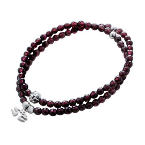 Garnet double bracelet