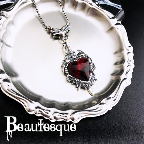 ≪Beautesque≫the Darkside_heart pendant