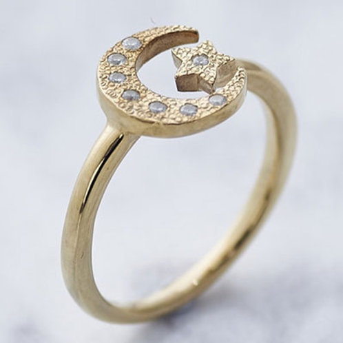 ≪Crescent Luna≫UNA ESTRELLA RING SMALL GOLD