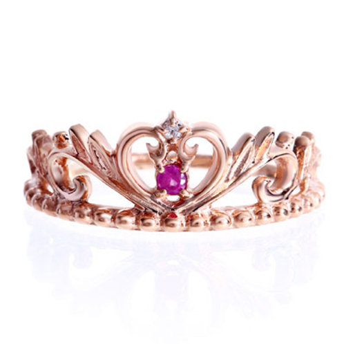 Lepus-Rabbit- / Tiara Heart Ring PINKGOLD