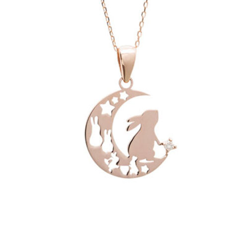 Lepus-Rabbit- / Diamond Necklace PINKGOLD