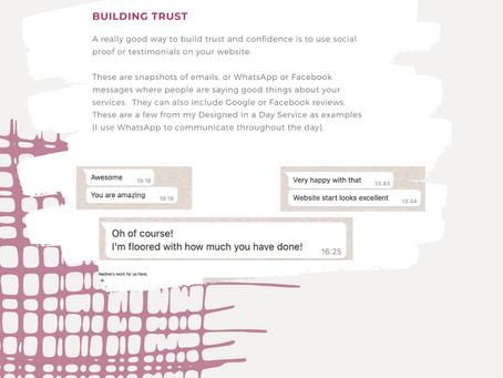 Building Trust - Social Proof