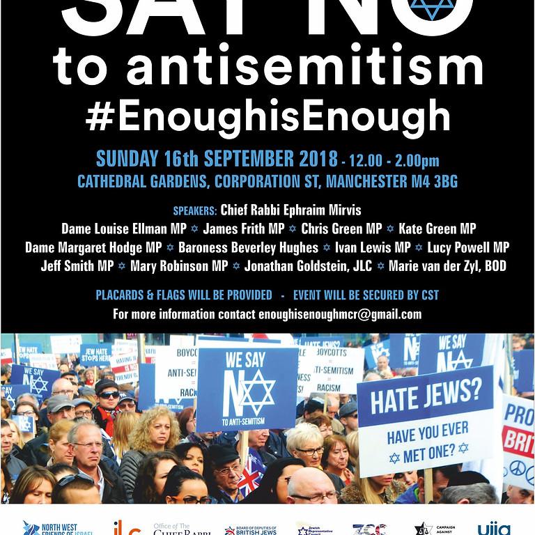 Enough is Enough - Say No to Anti-Semitism 2018