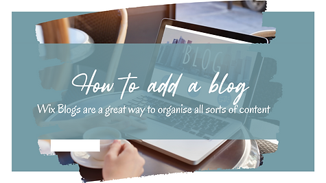 Become a Wix Wiz   How to Add a Blog
