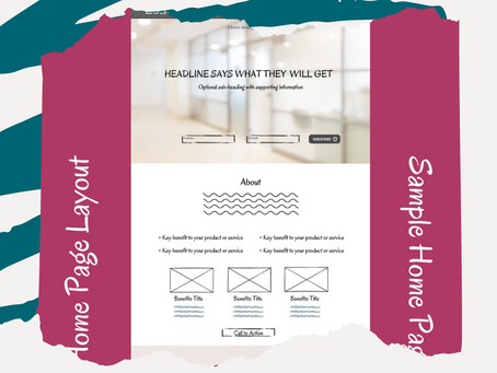 How to layout your home page