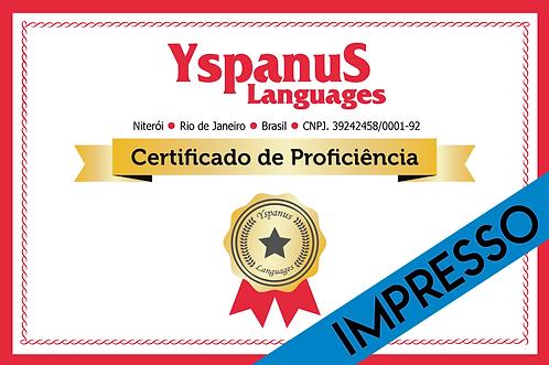 Certificado de Proficiência Linguística - Impresso