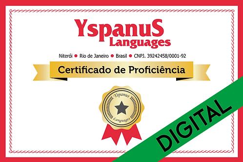 Certificado de Proficiência Linguística - Digital