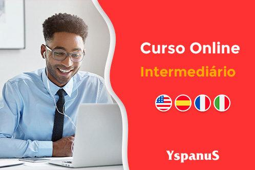 curso online intermediário de espanhol inglês francês e italiano
