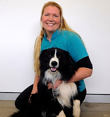 Dr Fiona Starr, Practice Owner & Veterinarian at Brudine Veterinary Hospital with her Border Collie dog called Jake