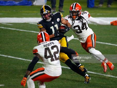 Cleveland Browns Linebacker Mack Wilson mocks Steelers WR Chase Claypool