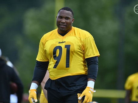 Stephon Tuitt is back in Training Camp and doing everything the Steelers have asked him to do