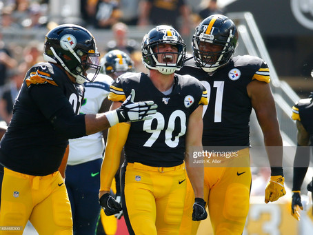 Steelers are the only team in the NFL to have 3 players in PFFs Top 10 with Total Pressures