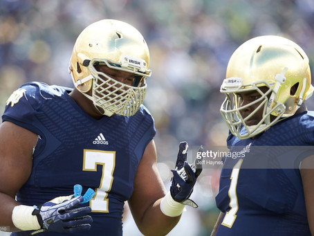 Stephon Tuitt says goodbye to his former teammate from Notre Dame Louis Nix III