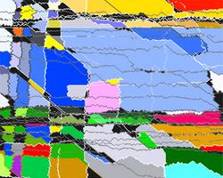 Tension et grincement de couleur, scratch nerveux, 2020