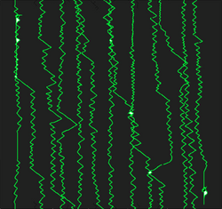 Nervous Green Baby - Vertical scratch, 2018