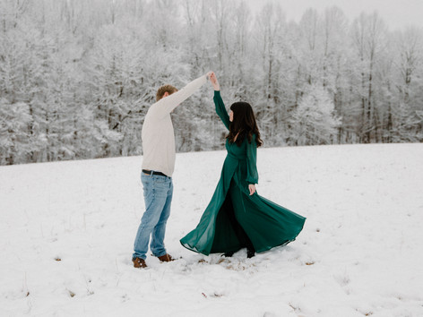 Magical Snow Engagement Session