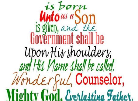 Joy To The World - Isaiah 9:1-2,6