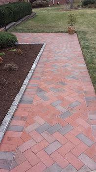 Henderson masonry walkway and landscape