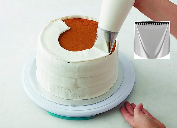 Tip de decoracion #790 Extra Large Icing Piping Toothed Double Side