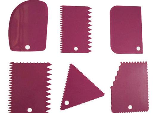 Spatula para decoracion - Decorating Combs SET 6