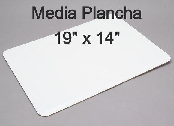 "Bases carton (Media Plancha) Rectangular 19 x 14"""