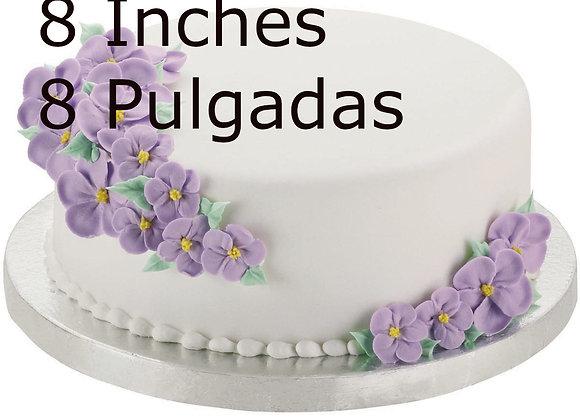 "Base para Pasteles 8 pulgadas - Cake Drums 8"" - 1/2 Th Inch Thick"