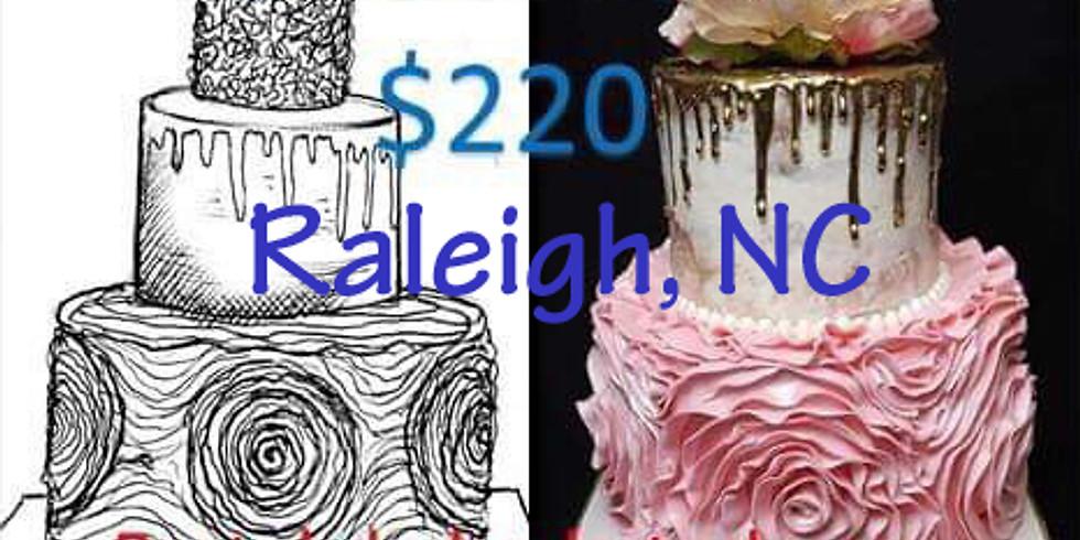 Raleigh Pastel de Boda en Buttercream 3 pisos Costo $220