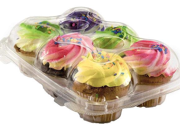 Cupcake Container  con Tapa 6 cupcakes